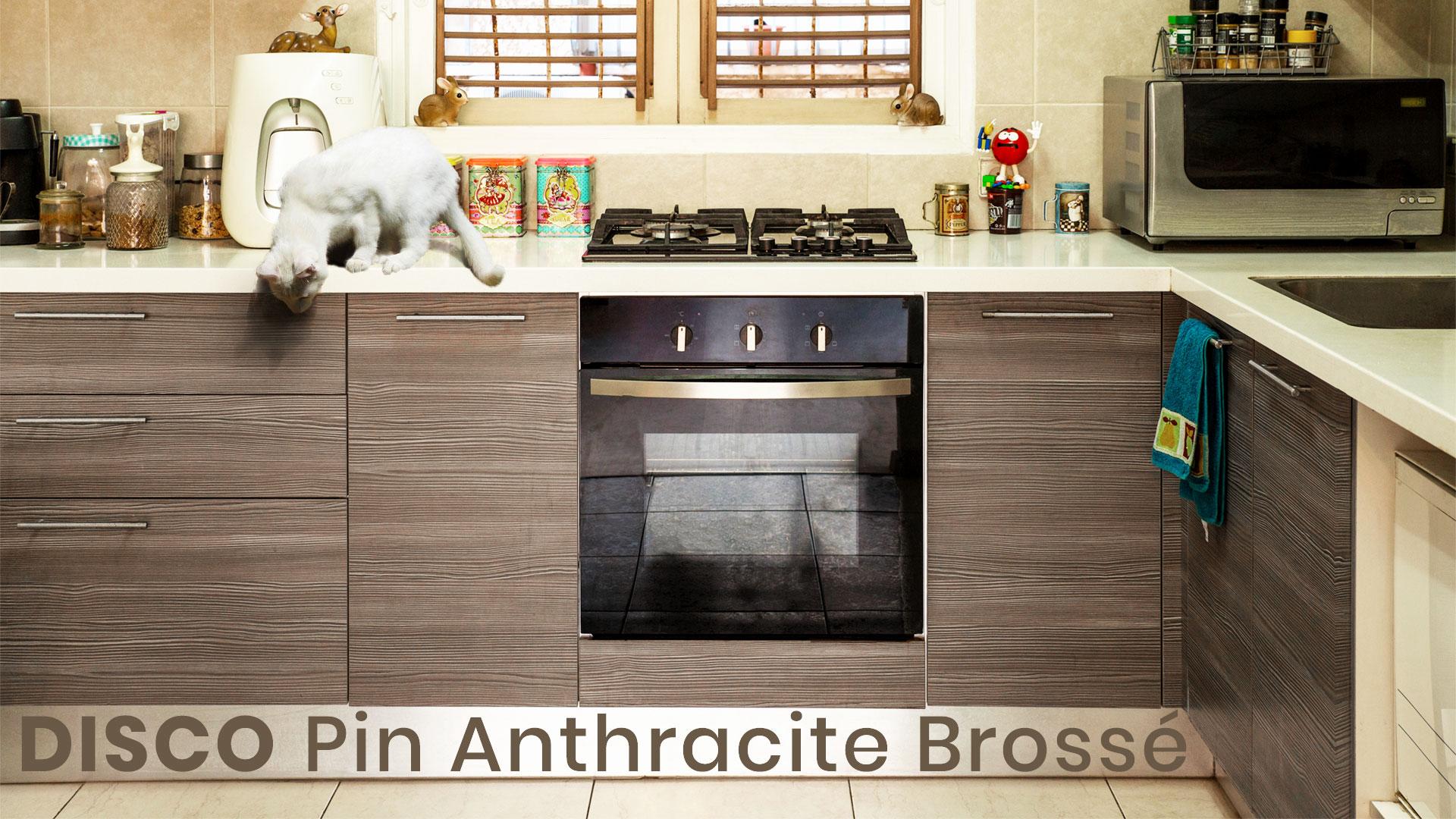 cuisine pin anthracite brossé